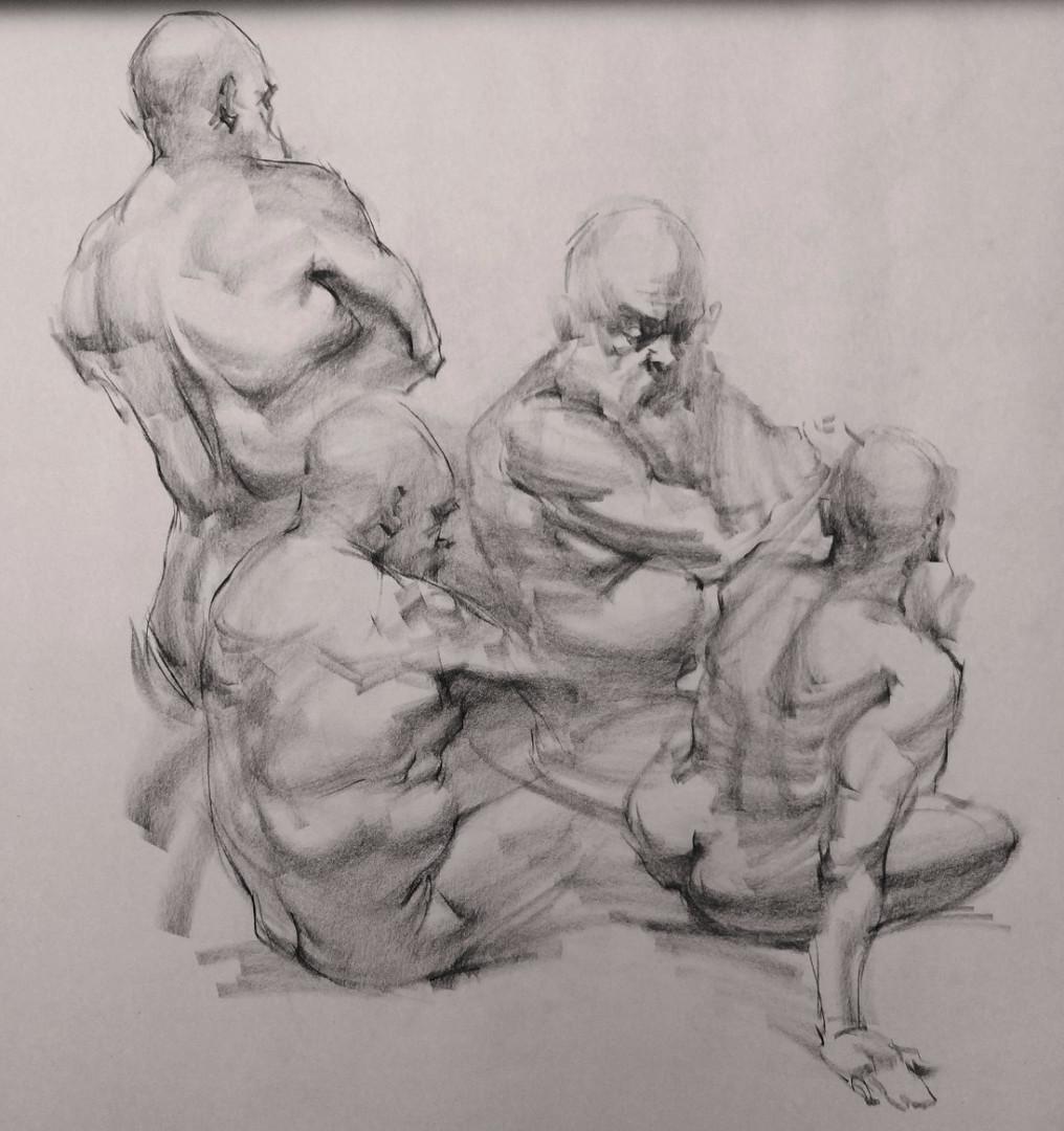Gesture figure drawings by Jacob Hankinson