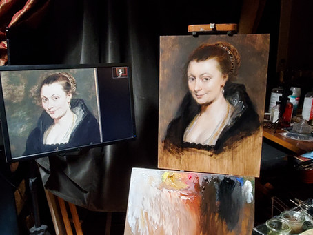 Master Copy: Portrait of Isabella Brant by Peter Paul Rubens, 1625