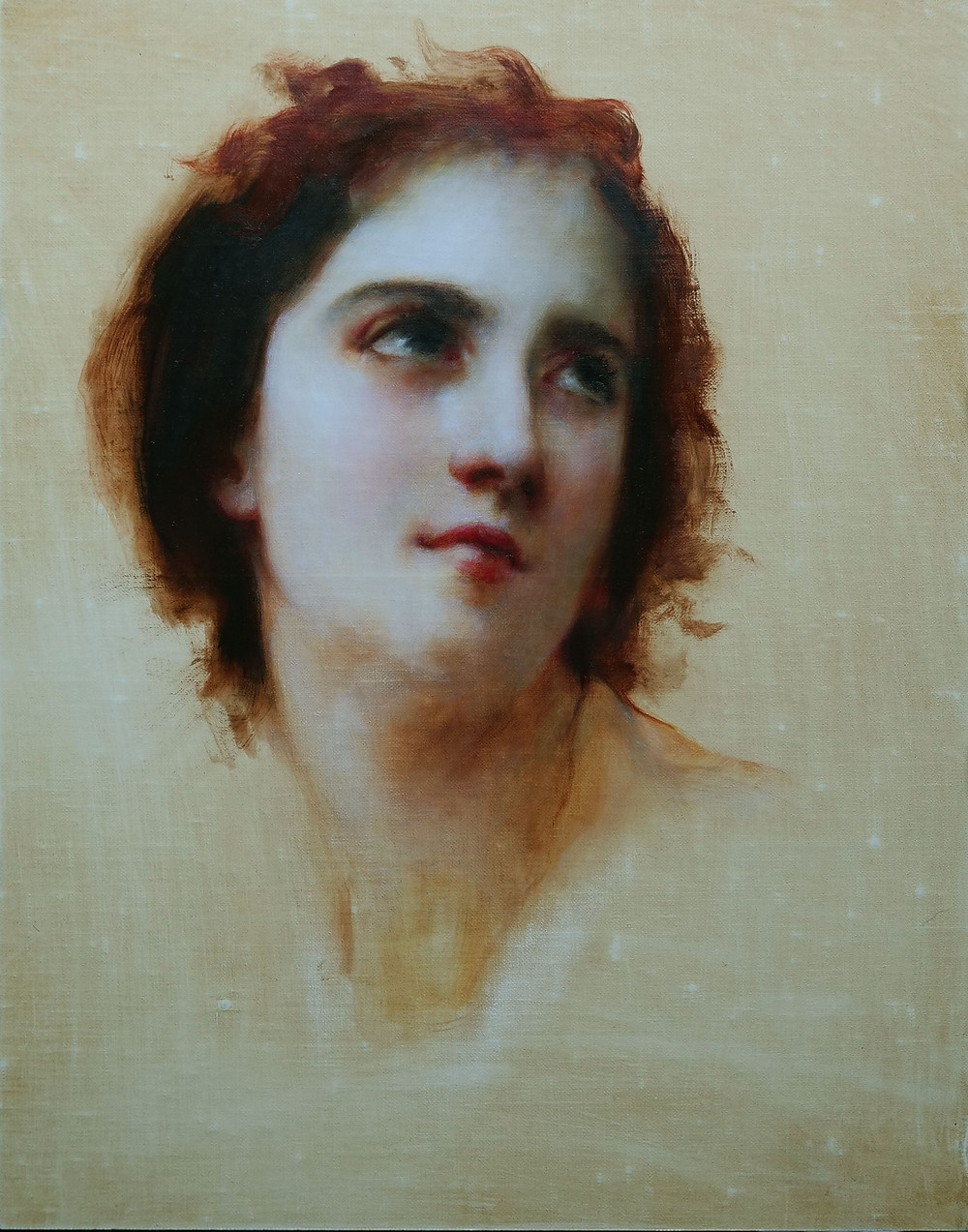 Master Copy of Bouguereau's Sketch of a Young Woman by Sadie Valeri