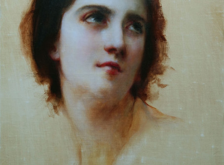 Master Copy: Bouguereau's Sketch of a Young Woman