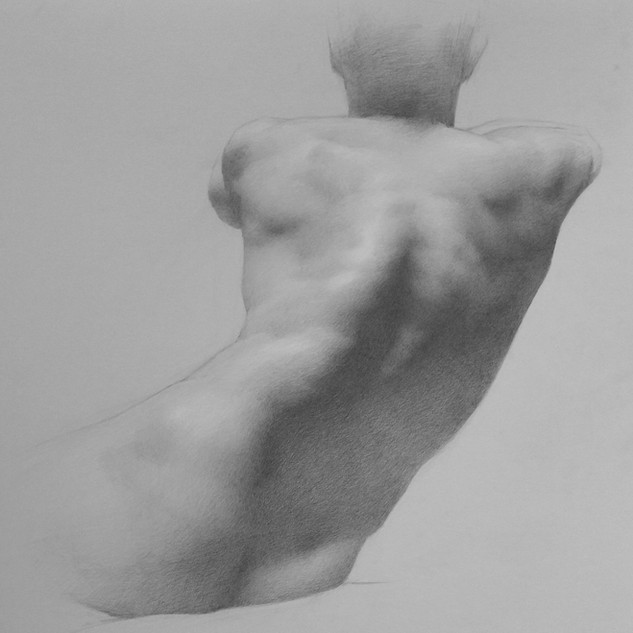 Figure Drawing of Charlie's Back