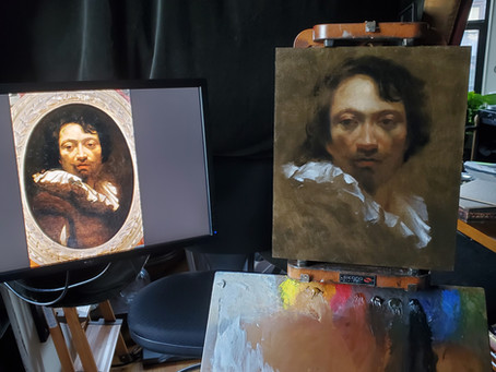 Master Copy: Simon Vouet Self Portrait