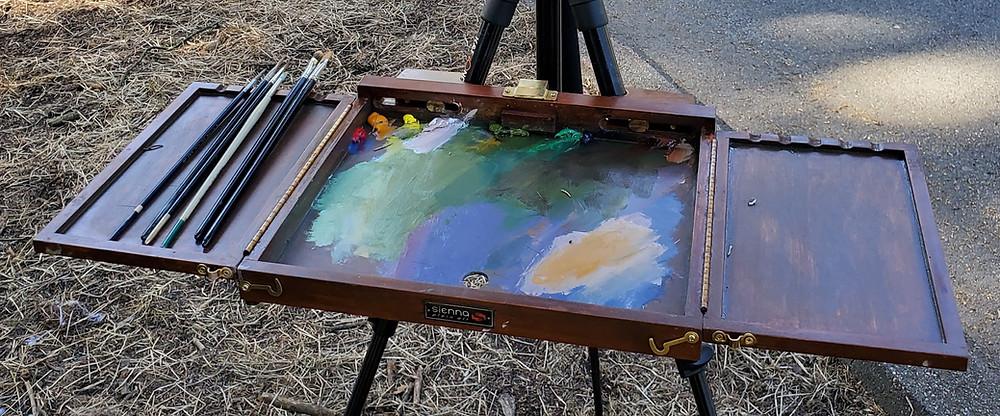 Plein air painting setup palette - Sadie Valeri