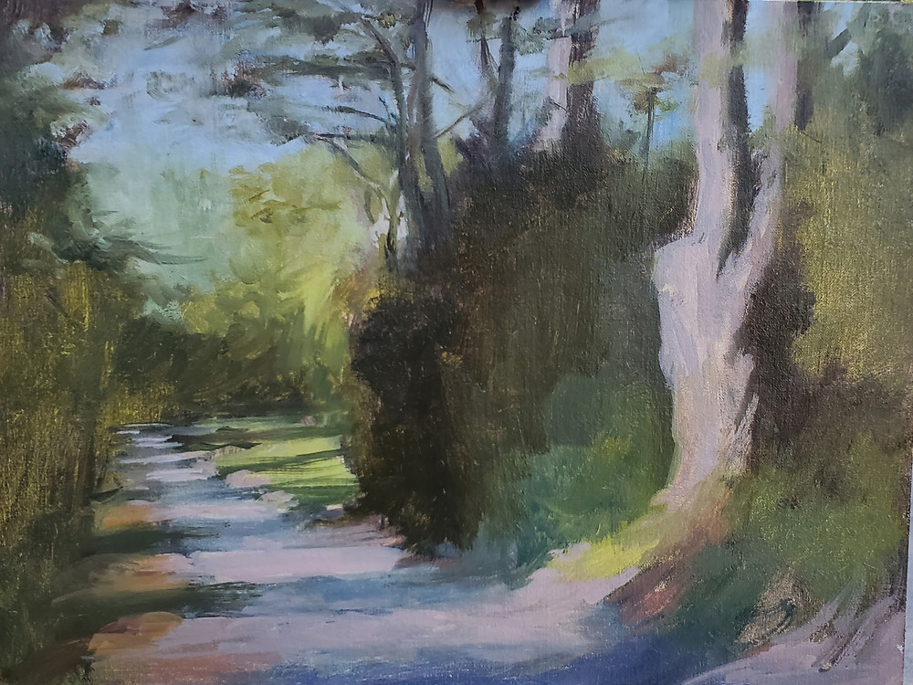 Plein air painting by Sadie Valeri