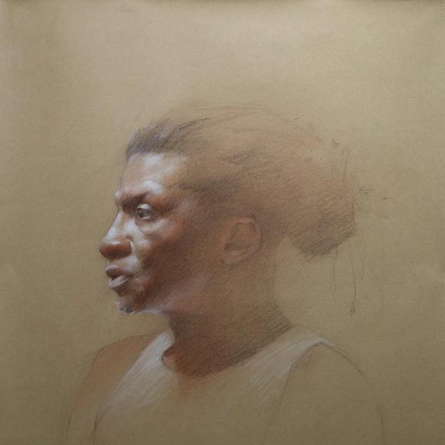 Portrait of Man in Profile