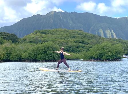 SUP yoga Kaneohe