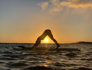 Sunset SUP yoga Oahu
