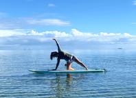 sunrise SUP yoga