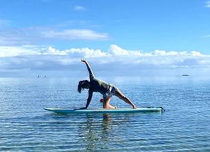 Sunrise SUP yoga oahu