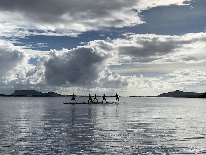 SUP Yoga Oahu Kaneohe
