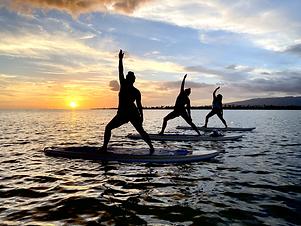 sunset sup yoga honolulu