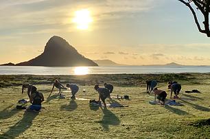 beach yoga Oahu