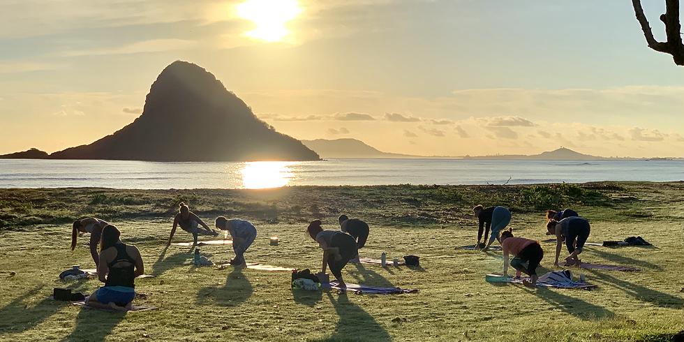 China Man's Hat Sunrise Beach Yoga 2/6