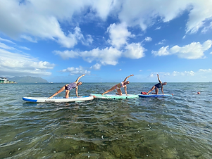 Group / Private SUP Yoga Class Oahu
