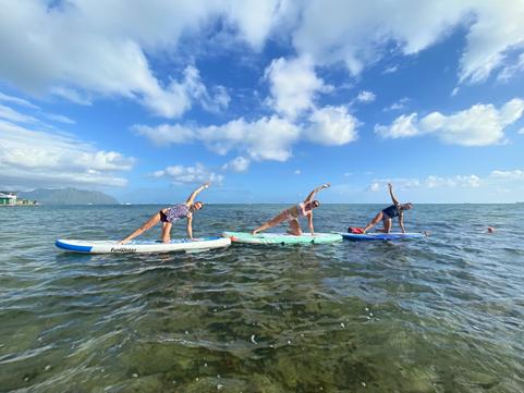 group SUP yoga Oahu