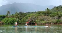 SUP Yoga Kaneohe Bay