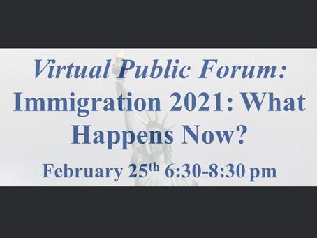 Virtual Public Forum on Immigration