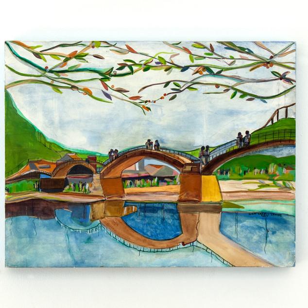 Kintai Bridge in the Spring