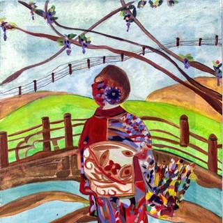 Woman in Kimono-SOLD