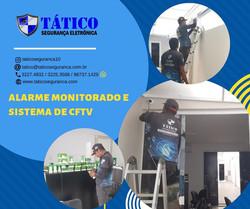 Alarme monitorado 24h e CFTV (Câmeras)