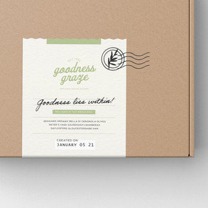 Goodness Graze box label design
