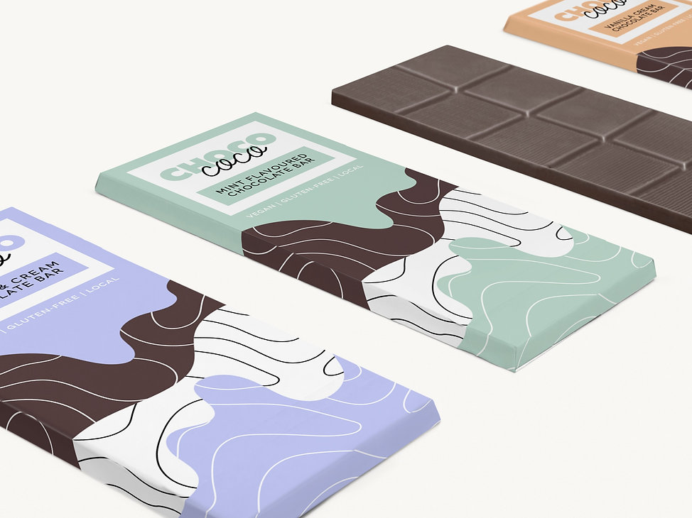 vegan chocolate bar packaging design
