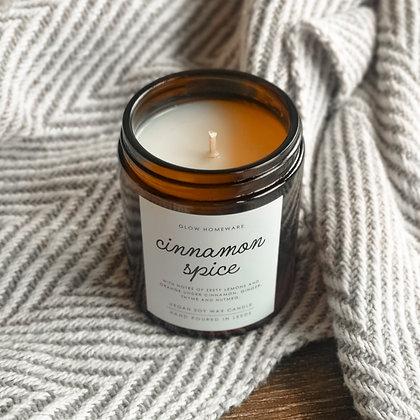 Cinnamon Spice Fragranced Soy Wax Candle | Minimal Range