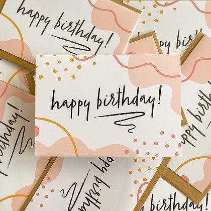 Abstract Happy Birthday! Card