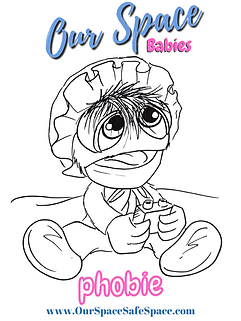 Copy of  Our Space Babies coloring page
