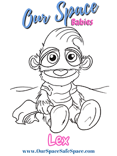 Copy of  Our Space Babies coloring page.
