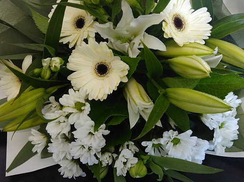 Lovely selection of green and white blooms