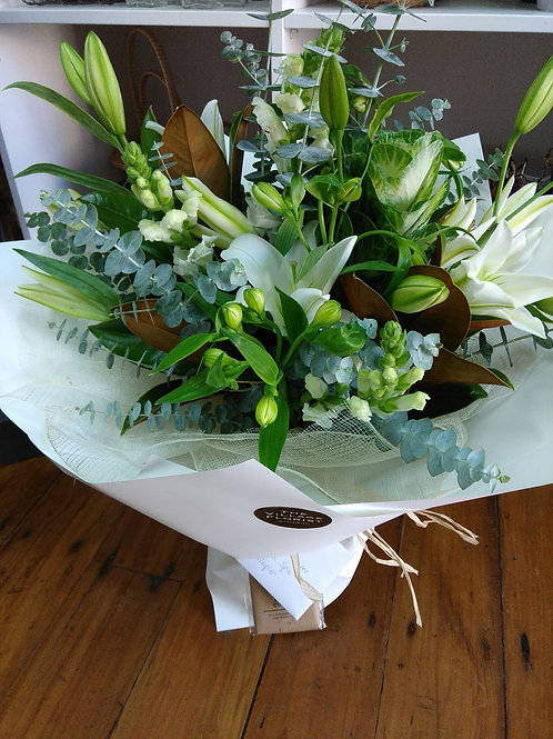 Whites and greens,presented in a Bloom Box