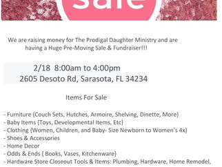 2/18 Pre-Moving Sale & Fundraiser