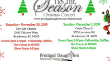 COMING SOON! Tis The Season Christmas Concert! Sponsor Today! Nov 30-Dec 1