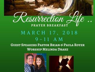 Prayer Breakfast March 17th