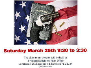 Concealed Weapons Permit Class Fundraiser March 25, 2017