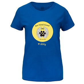 Blue Women's T-Shirt Circled Logo.jpg