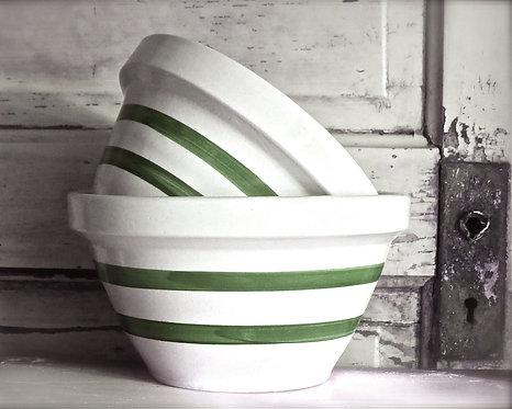 Farmhouse Kitchen Wall Decor • Old Mixing Bowls
