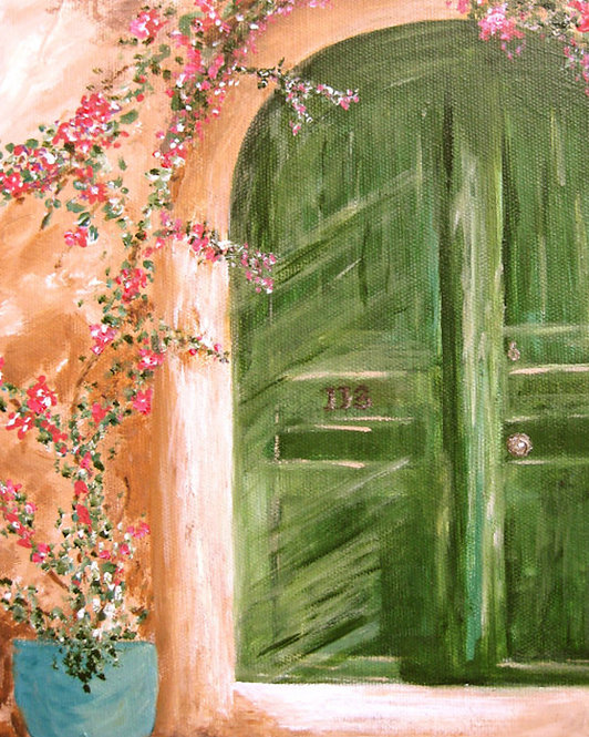 Green Door Giclee Print