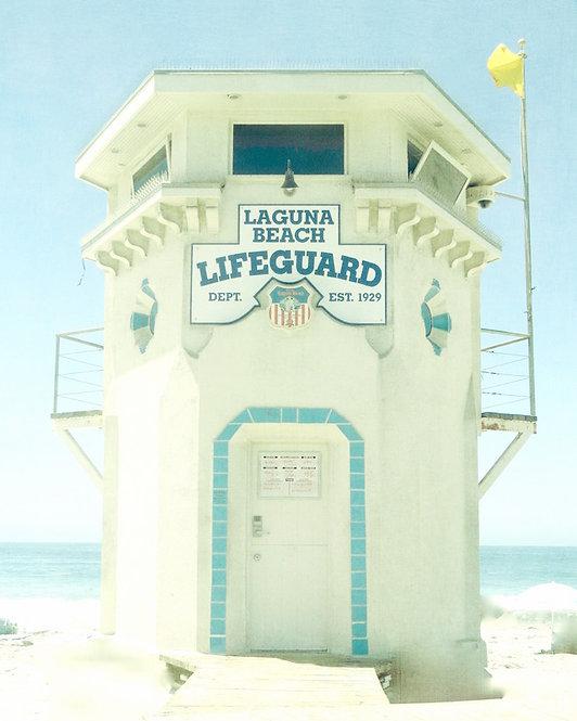 Beach & Coastal Wall Art • Laguna Lifeguard