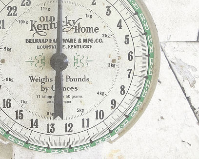 Farmhouse country kitchen rustic old scale