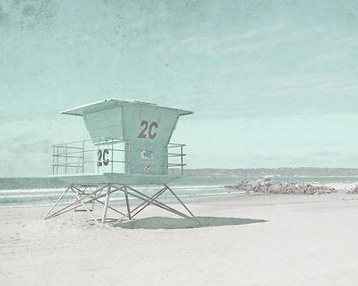 California Beach Lifeguard Tower
