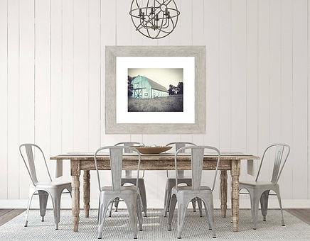 Aqua Barn Farmhouse Art Print