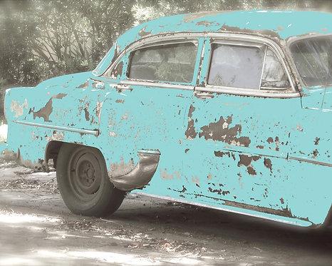 Rustic Car Art • True Blue Friend