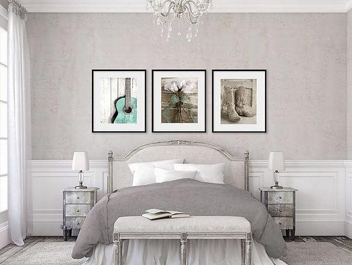 cowgirl teal Bedroom Portrait Framed s-3