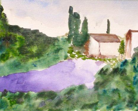 Lavender Fields Giclee Print