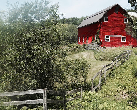 Farmhouse Wall Decor • Red Barn