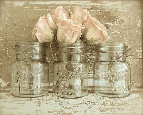 Farmhouse Wall Art • Peach Blossoms
