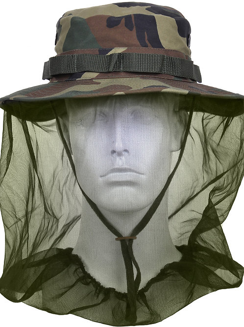 Outdoor Anti-Mosquito Mask Hat with Head Net Mesh Face Protection