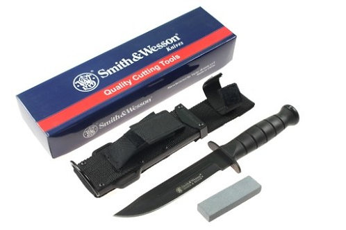 SMITH & WESSON SEARCH & RESCUE MARINE COMBAT FIXED BLADE KNIFE